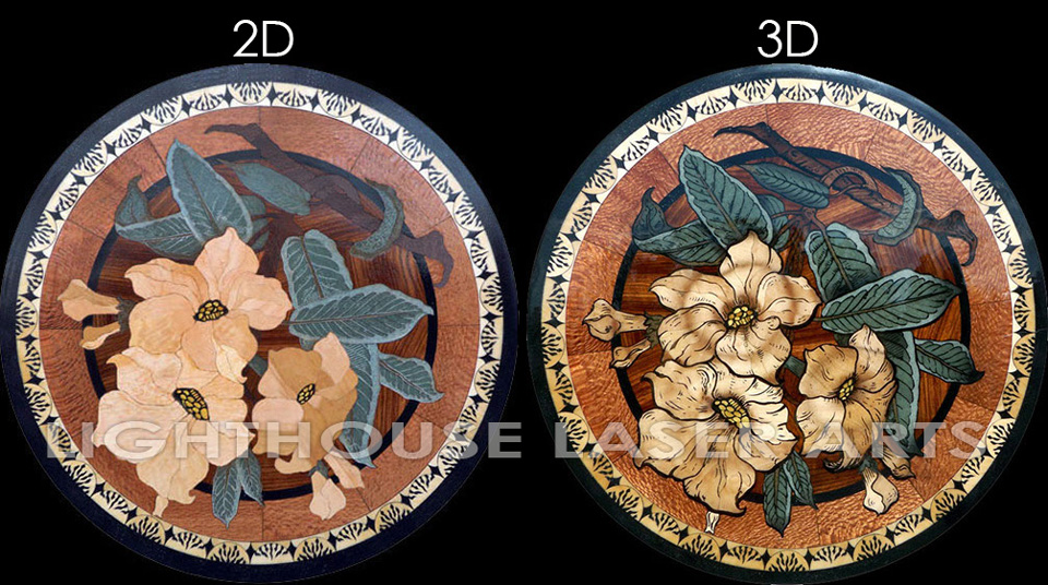 Eterna Bouquet 2D vs 3D