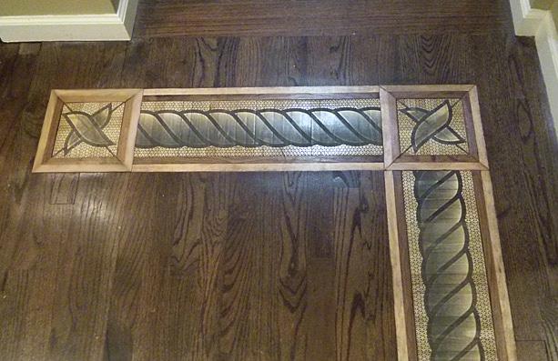 hardwood floor medallions