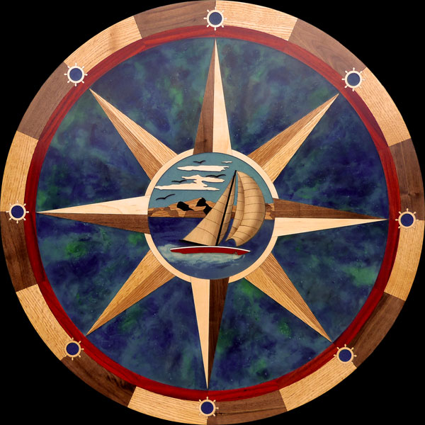 Bay Sailing Compass Rose