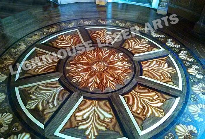Tahari Custom Inlaid Wood Flooring Design