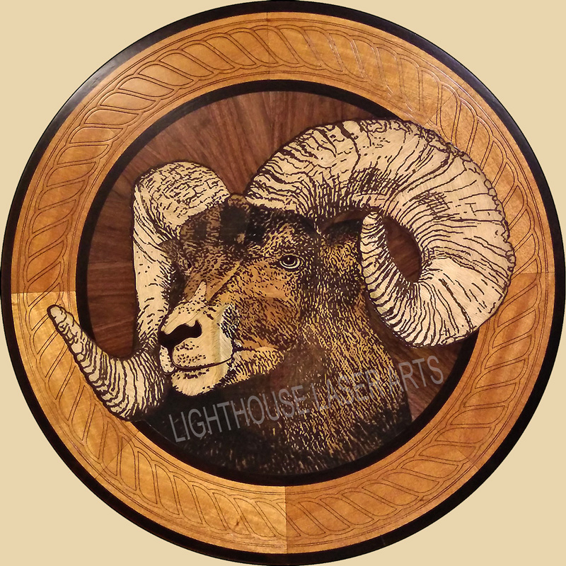 Big Horn Sheep w/Rope Border