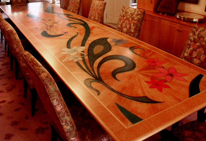 Lighthouse Arts Functional Art Table Tops Inlaid