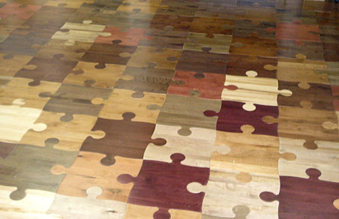 flower tree tree tree - Puzzle Wood Flooring